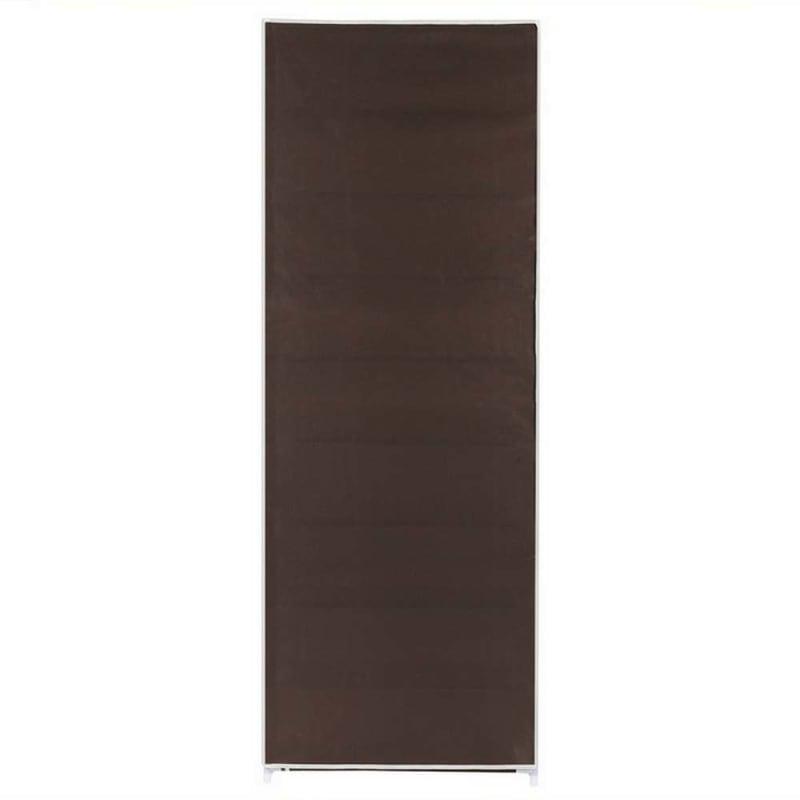 OPEN BOX Homegear Large Free Standing Fabric Shoe Rack /Storage Cabinet Dark Brown #3