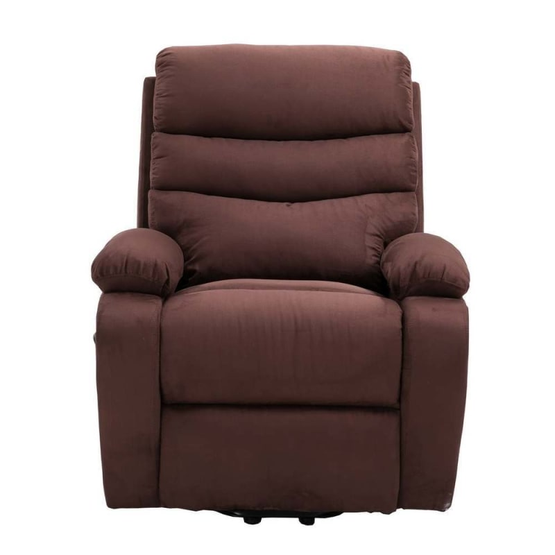 Homegear 2-Remote Microfiber Power Lift Electric Recliner Chair with Massage, Heat and Vibration with Remote - Brown #1