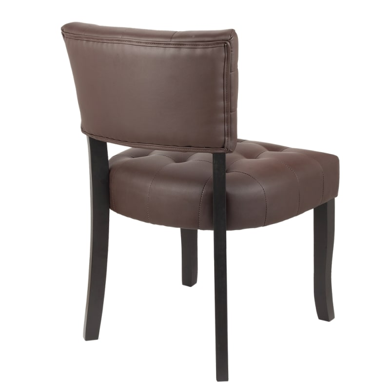 Brilliant Homegear Oversized Tufted Faux Leather Accent Chair Brown Ocoug Best Dining Table And Chair Ideas Images Ocougorg
