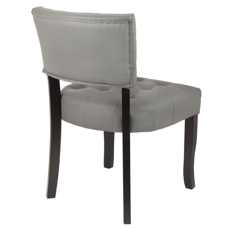 Homegear Oversized Tufted Faux Leather Accent Chair, Gray #3