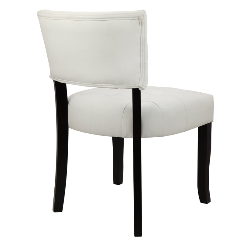 Astounding Homegear Oversized Tufted Faux Leather Accent Chair White Ibusinesslaw Wood Chair Design Ideas Ibusinesslaworg