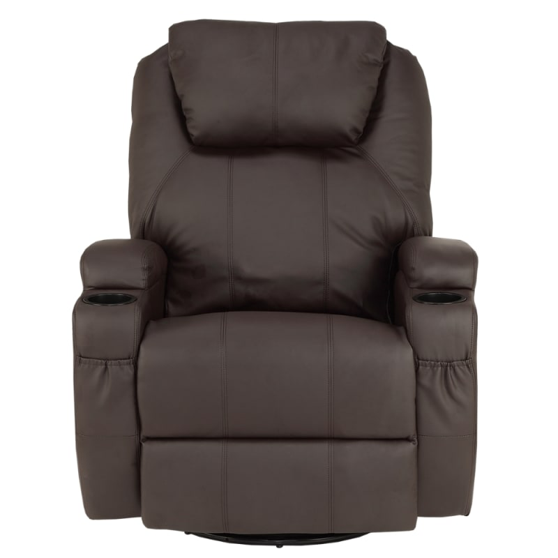 Homegear Recliner Chair with 8 Point Electric Massage and Heat - Brown #1
