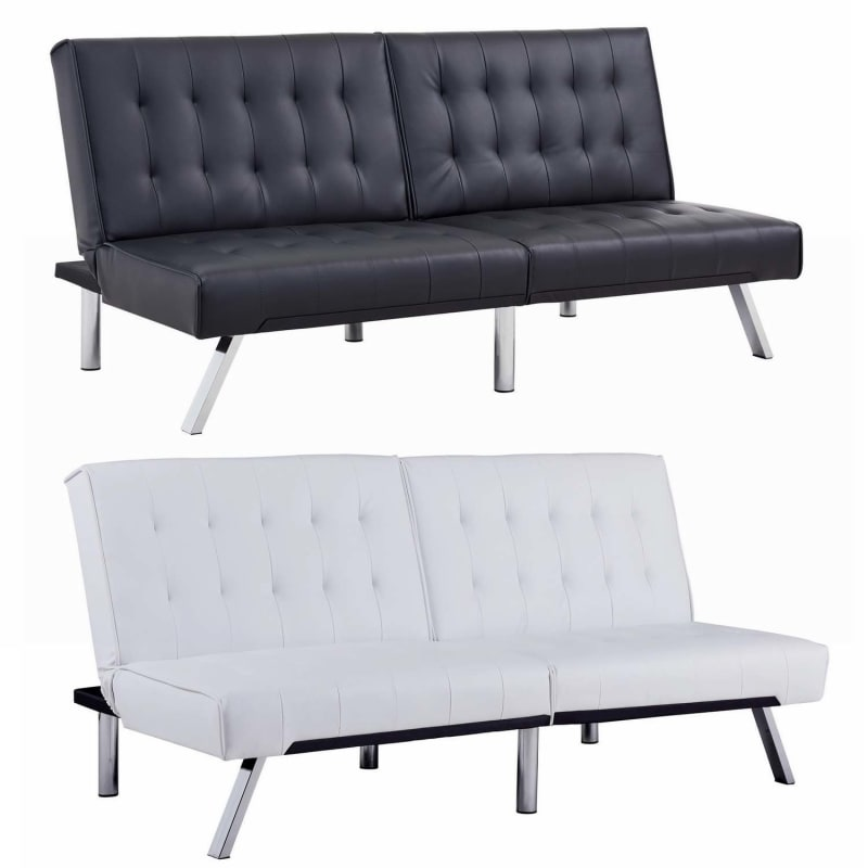 Homegear Furniture Futon Sofa Bed Split Back Couch
