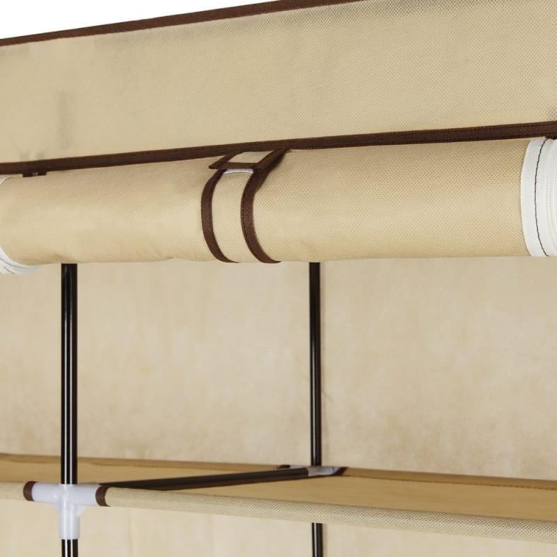 Homegear Triple Fabric Portable Wardrobe Closet Cream #4
