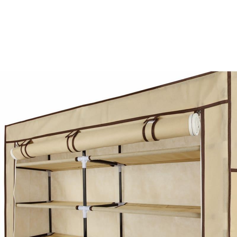 Homegear XL Free Standing Fabric Shoe Rack /Storage Cabinet Cream #3
