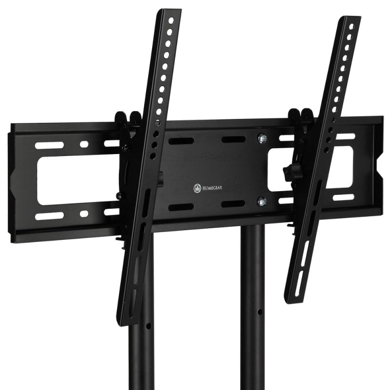 OPEN BOX Homegear Portable TV Cart Stand with Height / Tilt Adjustable Universal Mount on Wheels #2