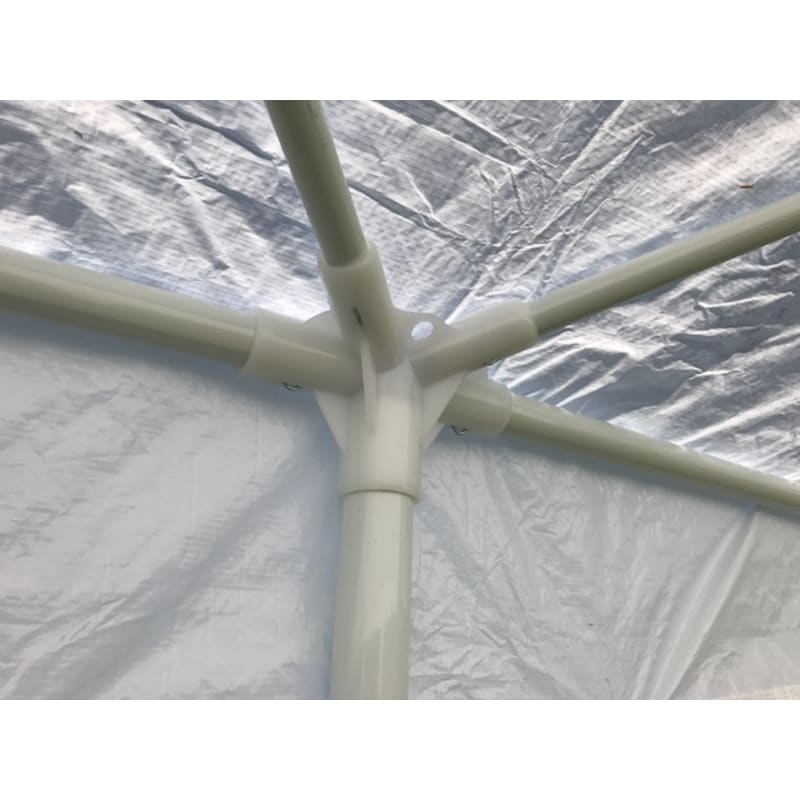 Palm Springs 10' x 20' White Canopy Party Tent with 4 Sidewalls #7