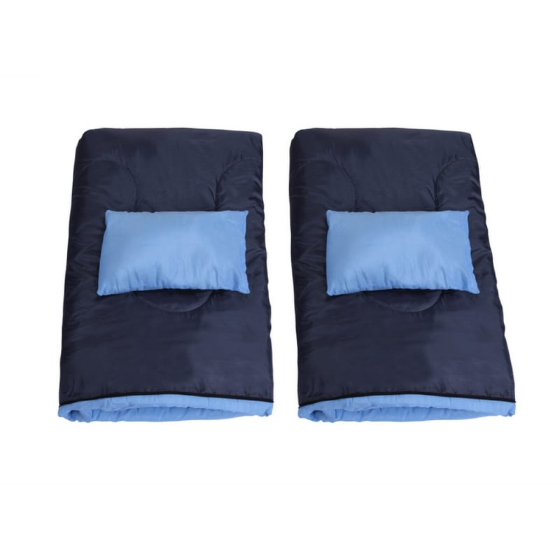 North Gear Camping Double Sleeping Bag With Pillows #6