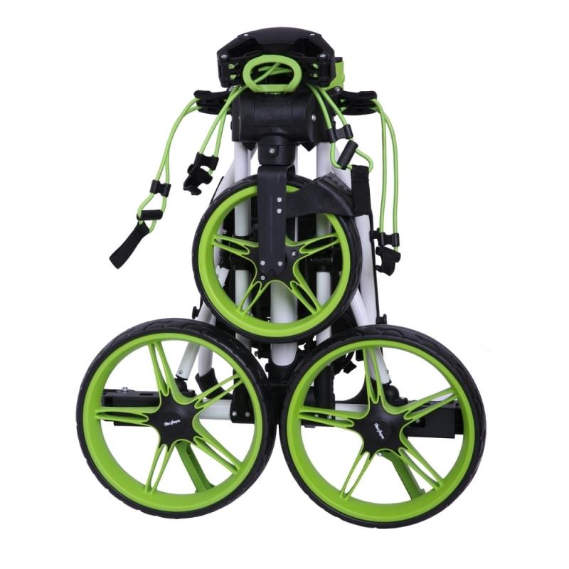 Caddymatic Junior Golf Cart - 3 Wheel Folding Cart for Kids- White/Green #1