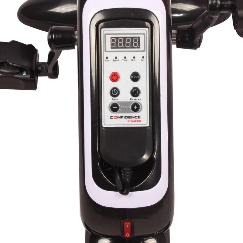 OPEN BOX Confidence Fitness Motorized Electric Mini Exercise Bike #2