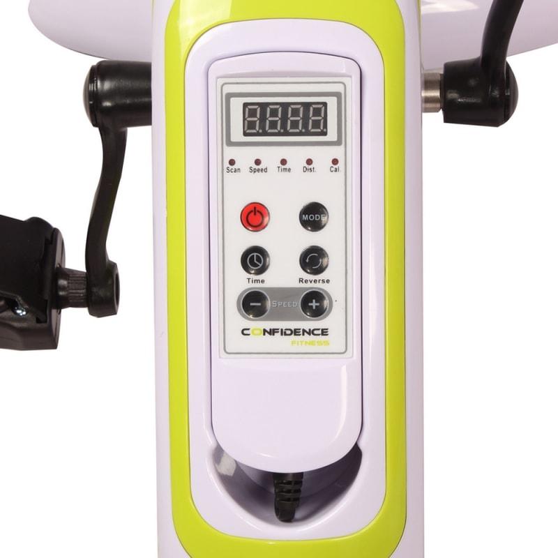 OPEN BOX Confidence Fitness Motorized Electric Mini Exercise Bike #6
