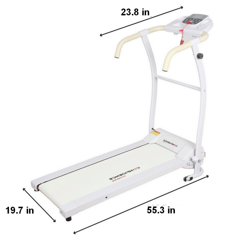 Confidence Fitness TP-1 Electric Treadmill Folding Motorized Running Machine - White #1
