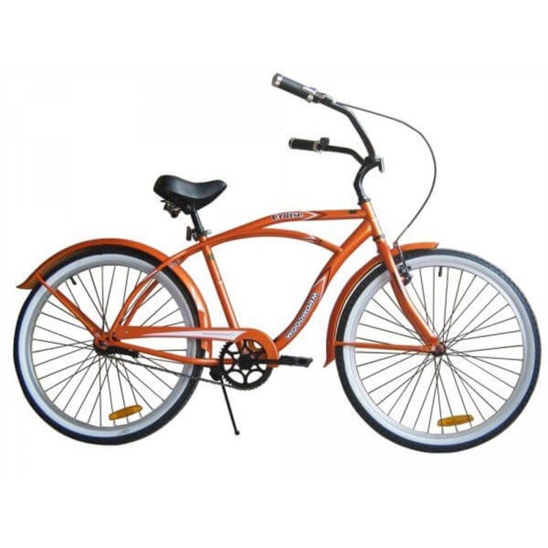 "Woodworm 18"" Mens Cruiser Bike - Orange"