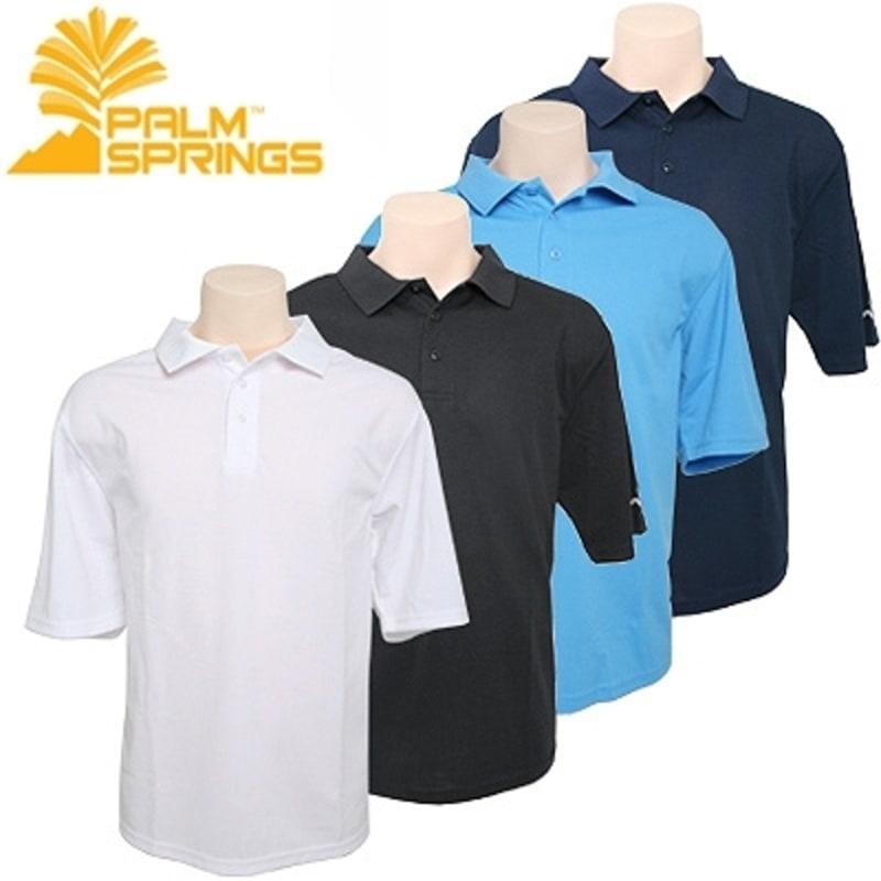 Palm Springs Plain Polo Shirts 4 pack
