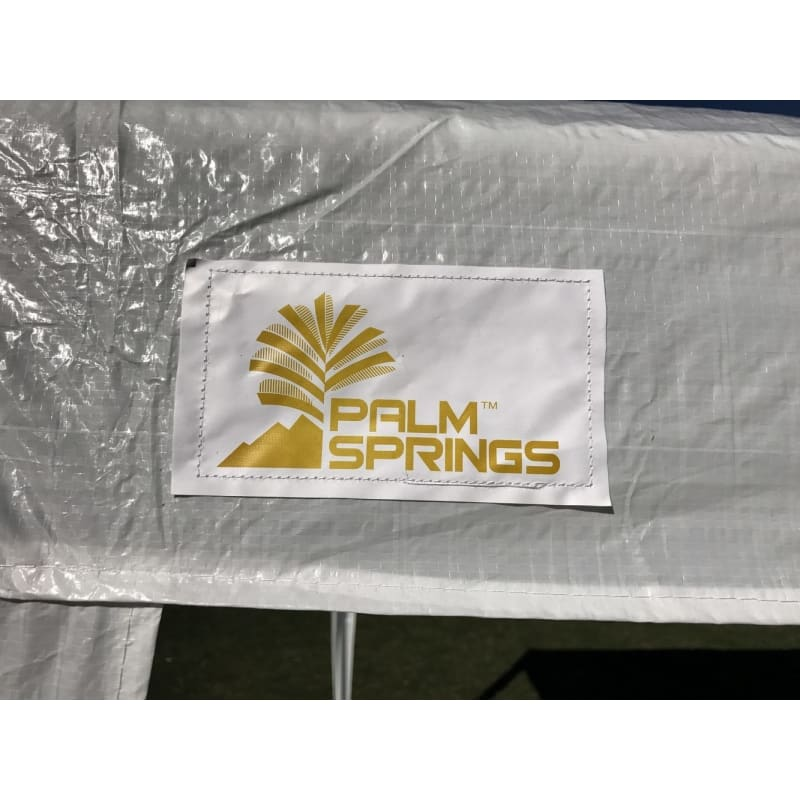 Palm Springs 10' x 30'  White Party Tent with 8 Sidewalls #1