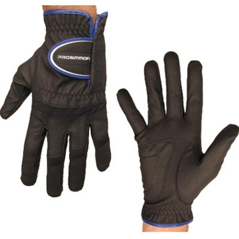 Prosimmon Mens All-Weather Right Hand Golf Gloves Black #