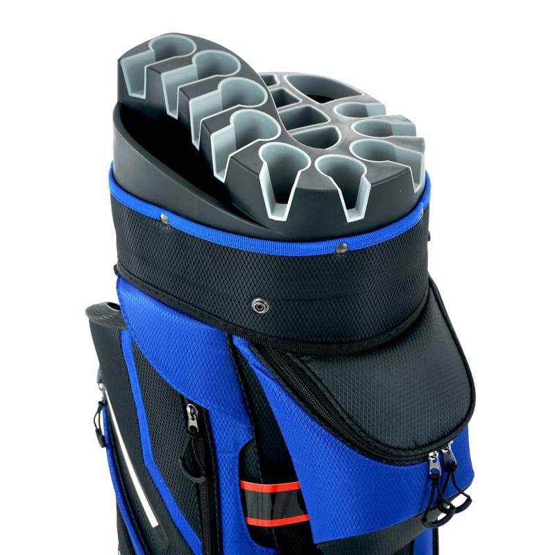 Ram Golf Premium Cart Bag with 14 Way Molded Organizer Divider Top Black Blue #5