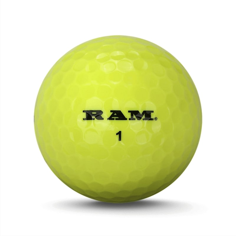 72 Ram Golf Laser Spin Golf Balls - Yellow #
