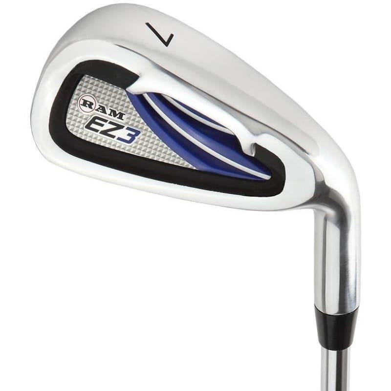 "Ram Golf EZ3 Mens -1"" Shorter Golf Clubs Set with Stand Bag - Graphite/Steel Shafts #5"