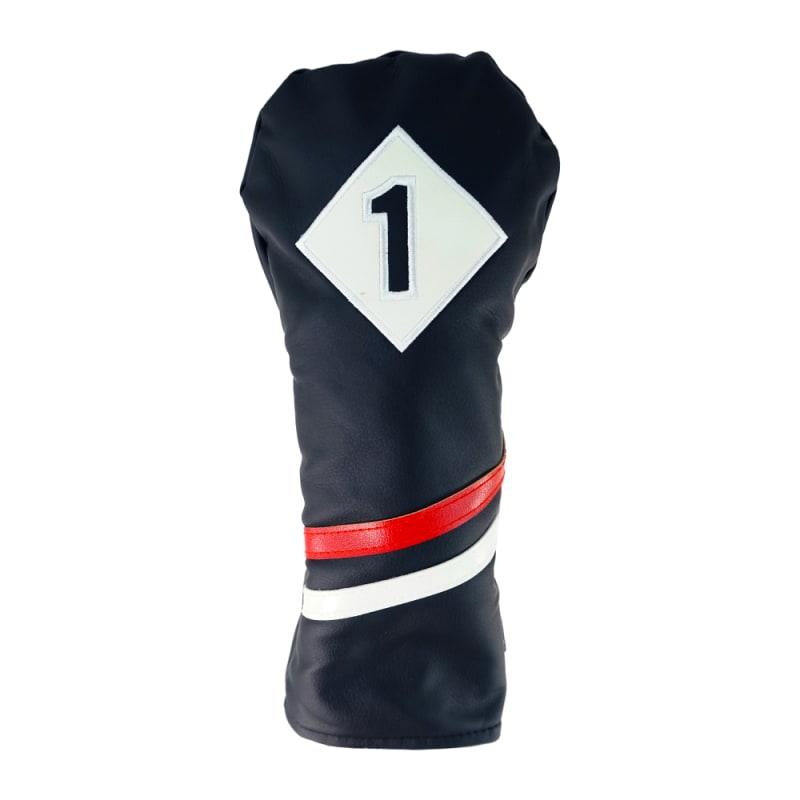 Ram Golf Premium Vintage Style PU Leather Headcovers, Retro Black, Driver #
