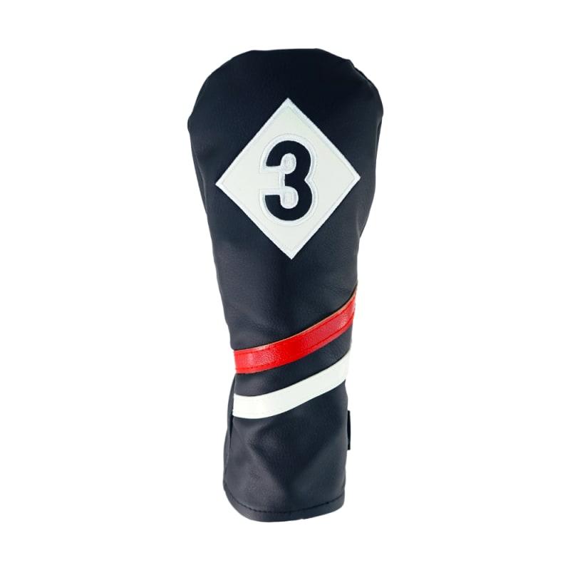 Ram Golf Premium Vintage Style PU Leather Headcovers Set, Retro Black, Driver, Fairway Wood, Hybrid (1,3,X) #1