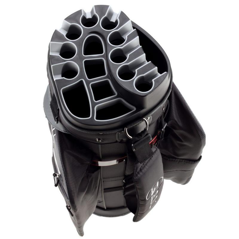 Ram Golf Premium Cart Bag with 14 Way Molded Organizer Divider Top Black Silver #4