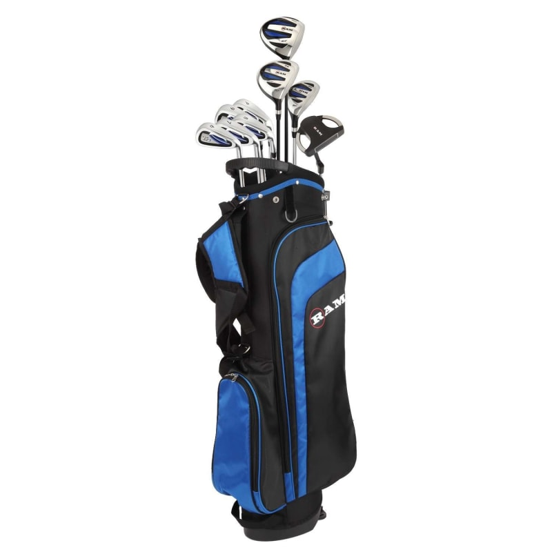 Ram Golf EZ3 Mens Golf Clubs Set with Stand Bag - Graphite/Steel Shafts