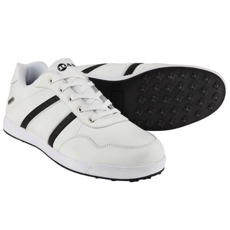 Ram FX Comfort Mens Waterproof Golf Shoes - White / Black #