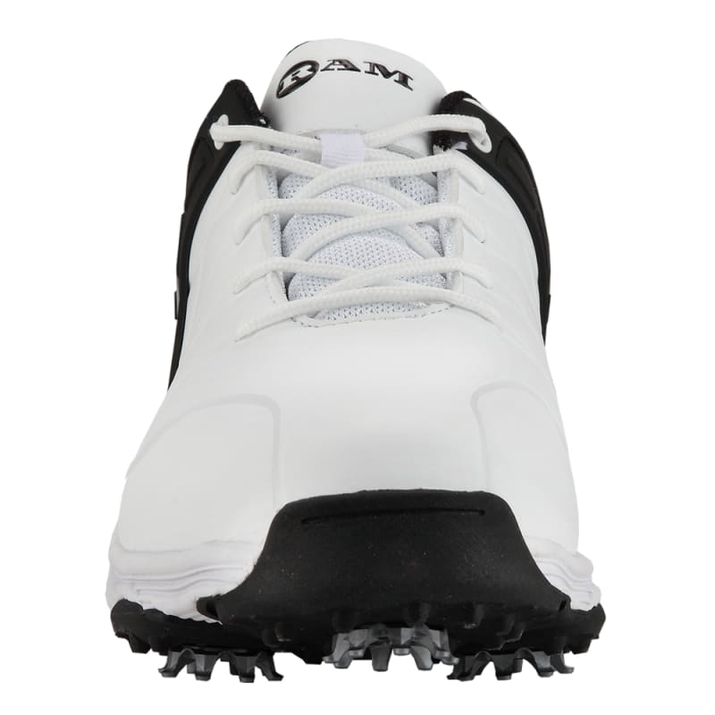 Ram Golf FX Tour Mens Waterproof Golf Shoes - White / Black #2
