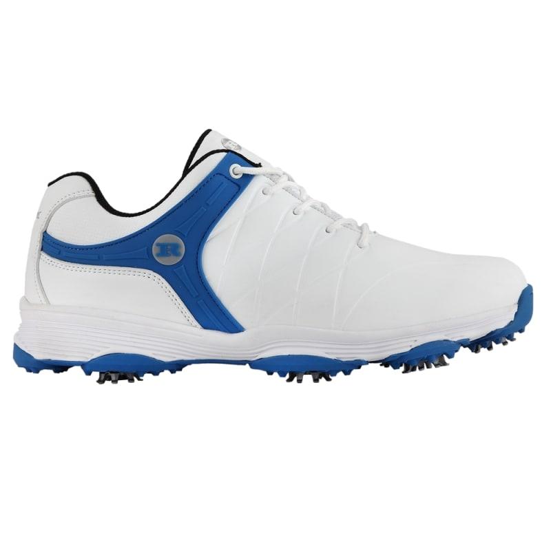 Ram Golf FX Tour Mens Waterproof Golf Shoes - White / Blue #1