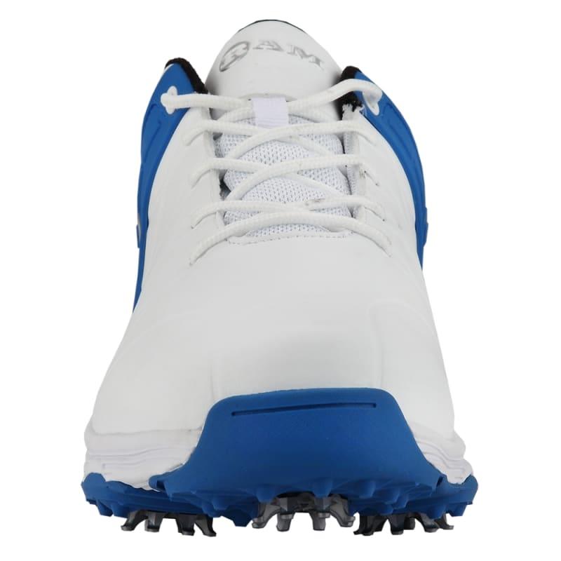 Ram Golf FX Tour Mens Waterproof Golf Shoes - White / Blue #2
