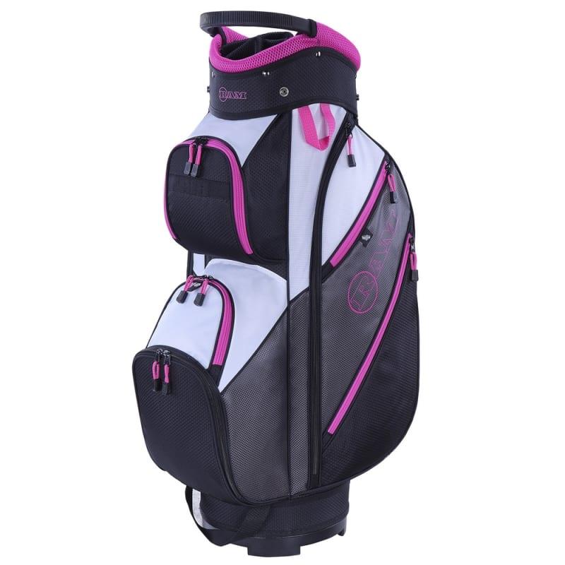 Ram Golf Lightweight Ladies Cart Bag with 14 Way Dividers Top Grey/Pink #