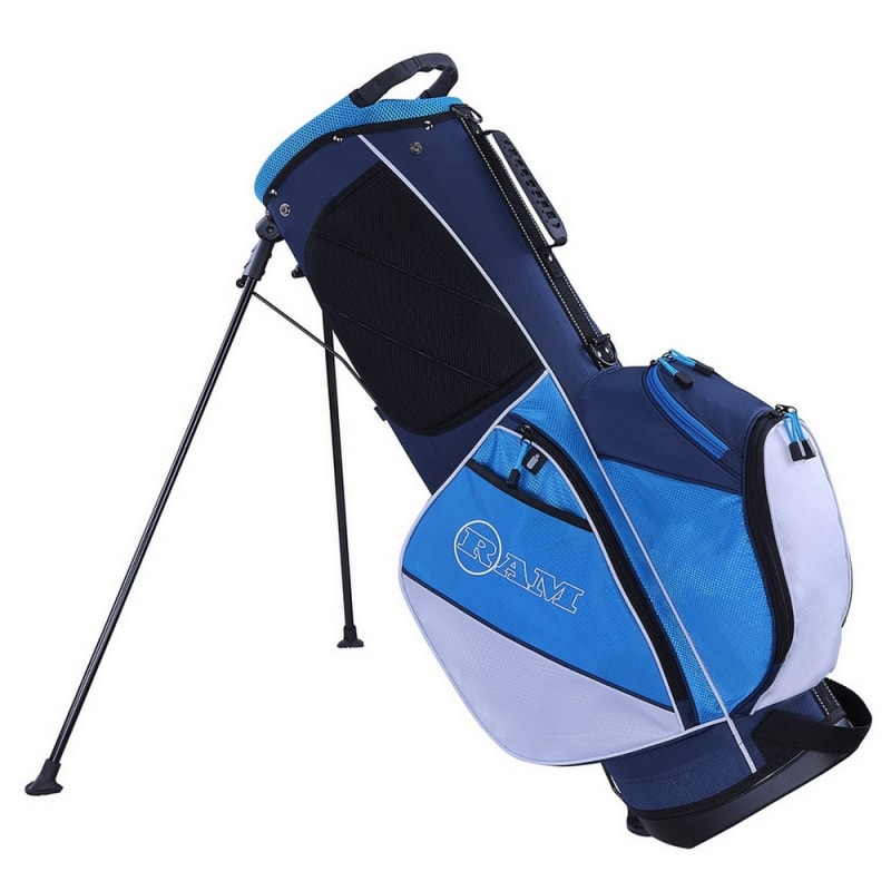 Ram Golf Lightweight Dual Strap Ladies Stand/Carry Bag - Blue/White #1