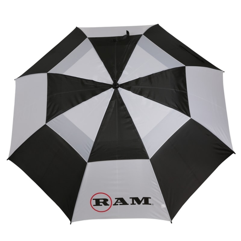 "Ram Golf Umbrellas 3 Pack - Premium 60"" Double Canopy Golf Umbrellas - Blue, Red, Black/White #2"
