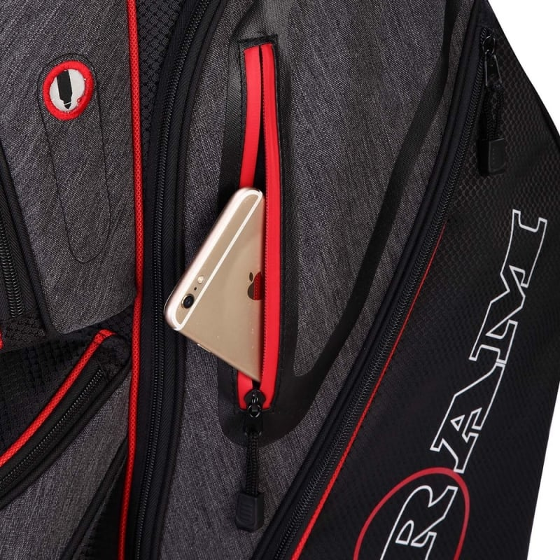 Ram Golf Tour Cart Bag with 14 Way Dividers Top #4