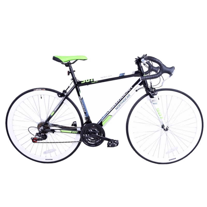 OPEN BOX North Gear Alloy 700c Road Bike -  with Shimano Components Black / Green