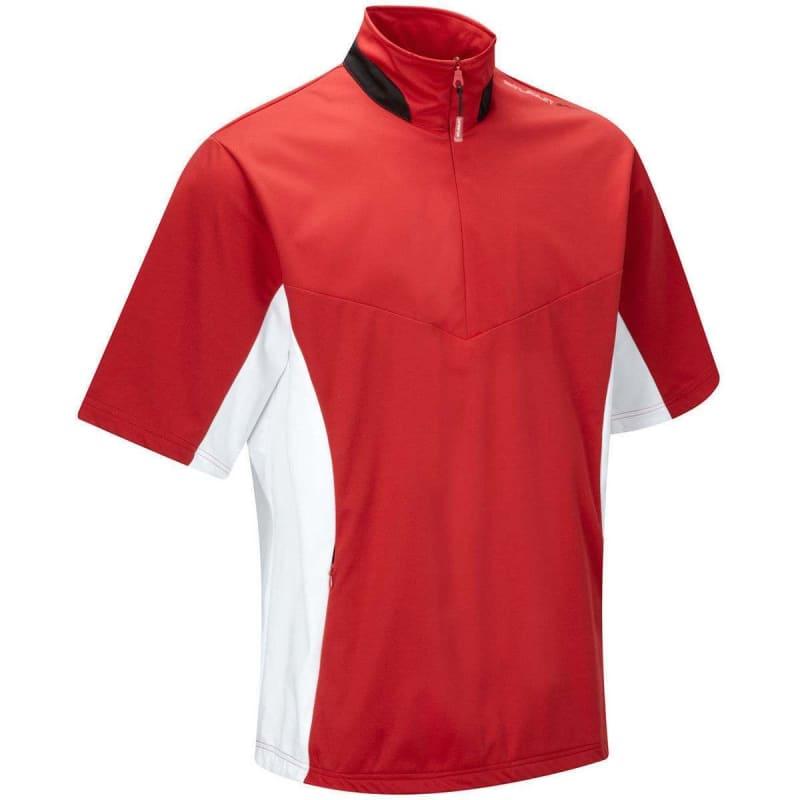 Stuburt Golf Sports Short Sleeve Half Zip Windshirt
