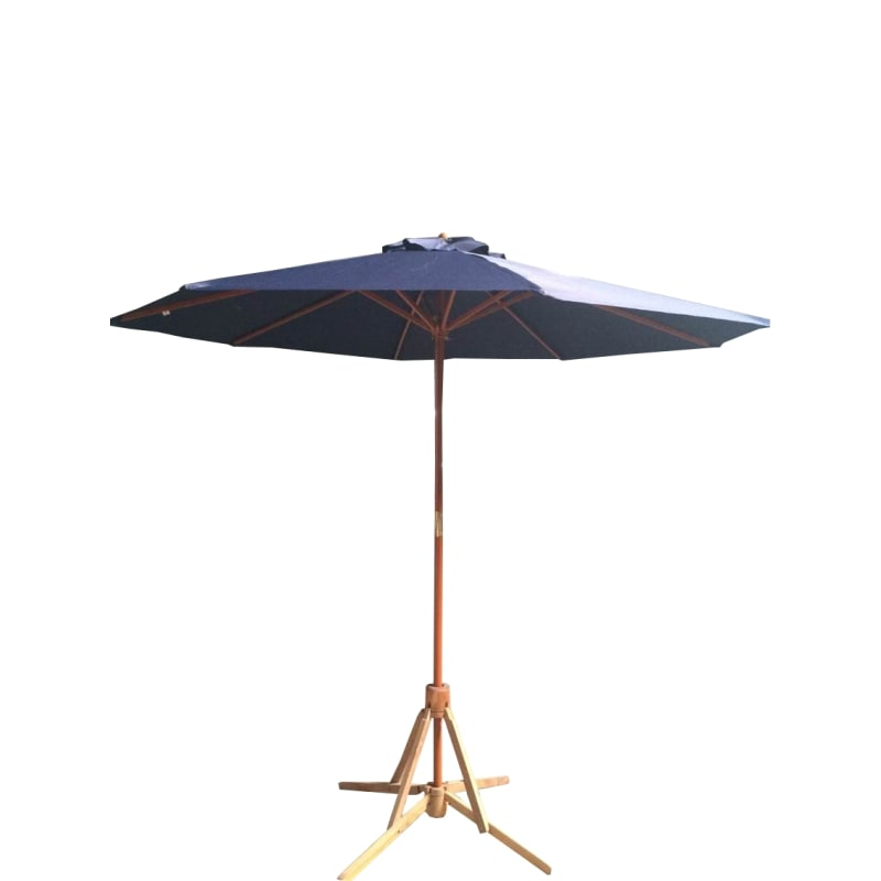 EX-DEMO Palm Springs 2.7m Wooden Garden Parasol Umbrella