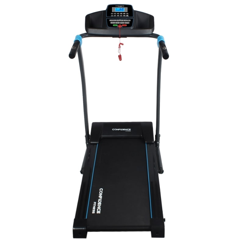 Confidence Fitness TP-3 Folding Electric Treadmill - Motorized Running Machine with Manual Incline, LCD and Phone/Tablet Holder #1