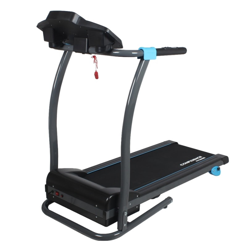 Confidence Fitness TP-3 Folding Electric Treadmill - Motorized Running Machine with Manual Incline, LCD and Phone/Tablet Holder #3