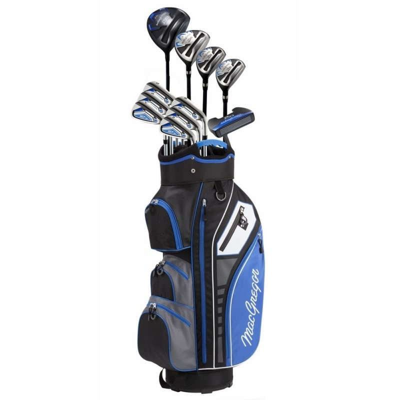 MacGregor Golf DCT3000 Premium Mens +1 inch Golf Clubs Set, Graphite/Steel, Right Hand, Cart Bag #