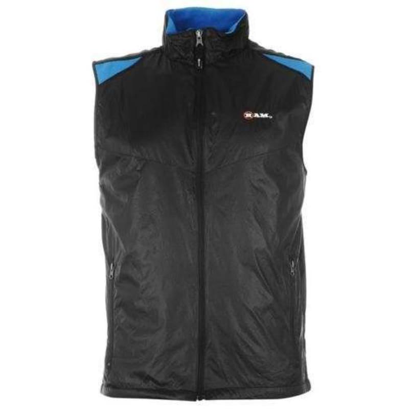 Ram Mens Golf Gilet Sleeveless Top Bodywarmer Vest Windbreaker - Small #