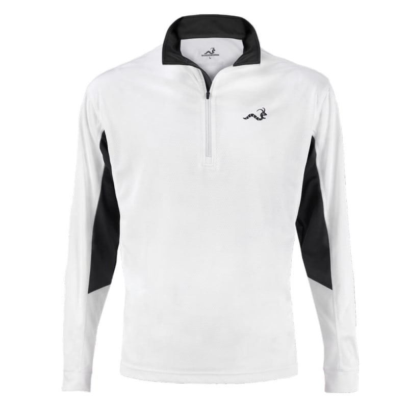 Woodworm 1/2 Zip Tech Golf Pullover - White/Grey