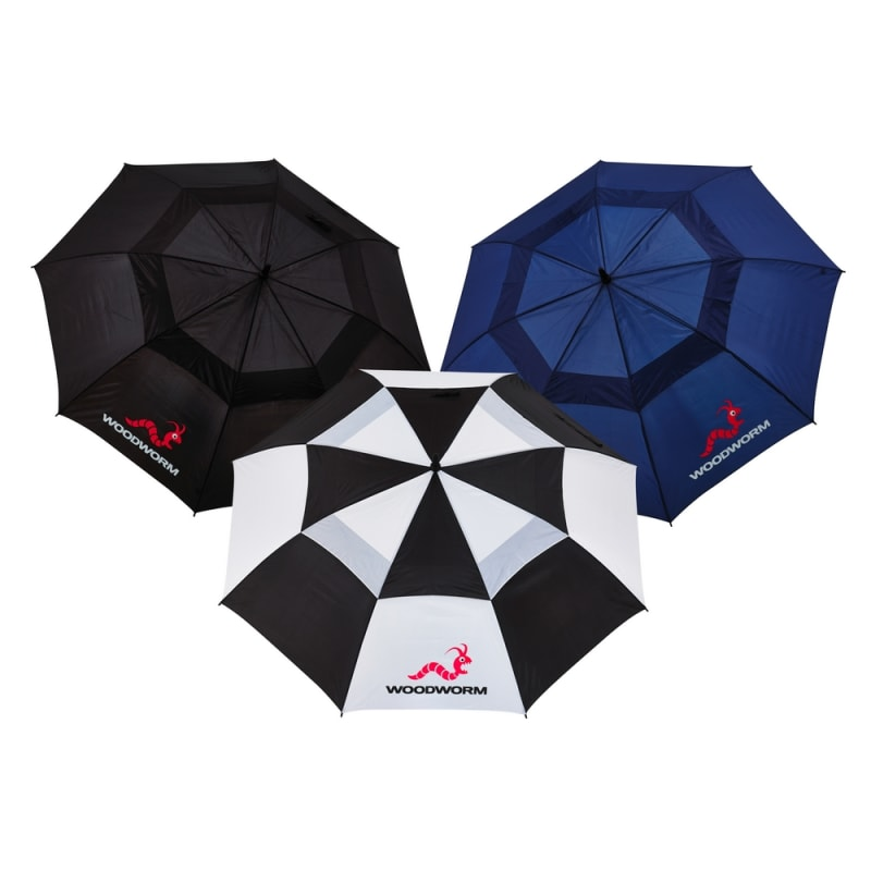 "OPEN BOX 3x Woodworm Double Canopy 60"" Golf Umbrellas"