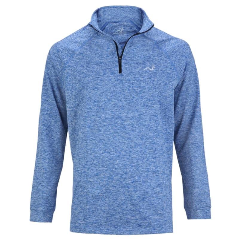 Woodworm Golf ¼ Zip Heather Pullover Sweater Blue