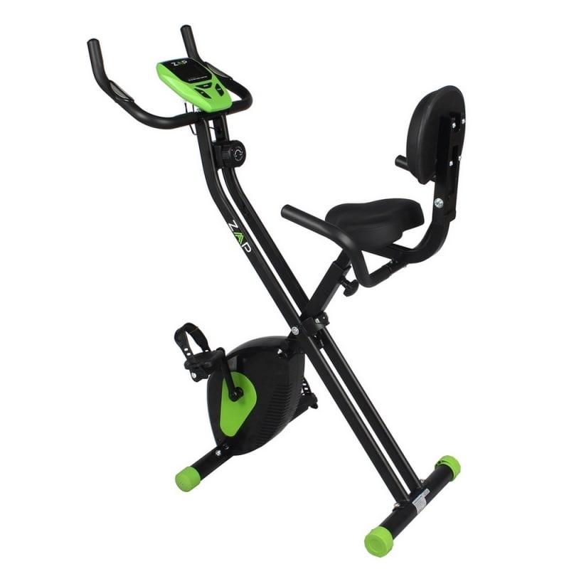 EX-DEMO ZAAP Fitness Folding Recumbent Upright Exercise Bike - Black/Green