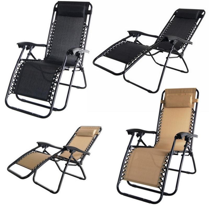 Surprising Open Box 2X Palm Springs Folding Zero Gravity Recliner Chair Machost Co Dining Chair Design Ideas Machostcouk