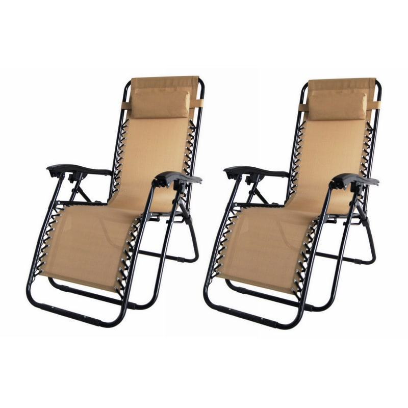 2x Palm Springs Folding Zero Gravity Recliner Chair  #2