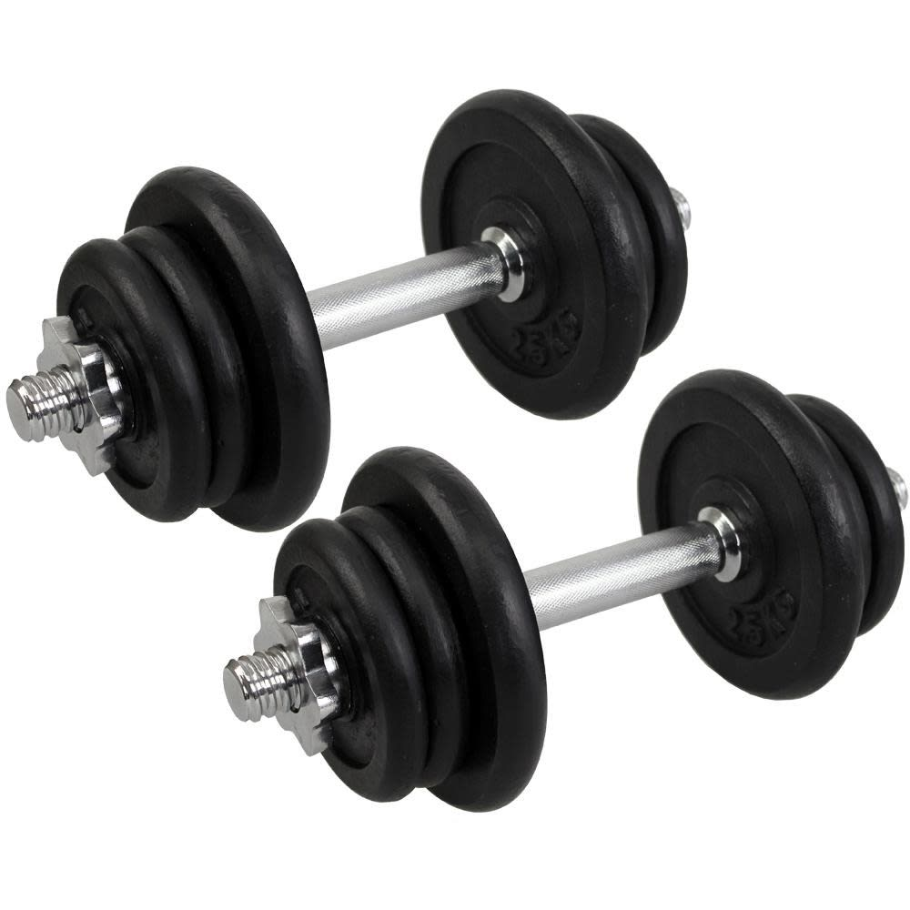 Confidence Pro 25kg 55lbs Dumbbell Weights Set Get Fit Co Uk