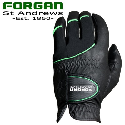 2 Forgan of St Andrews MENS AW Left Hand Golf Gloves Black
